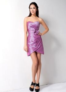 New Sweetheart Lavender Short Prom Cocktail Dress with Flower