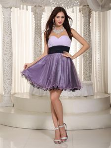 Low Price Organza Purple Short Cocktail Party Dresses under 150