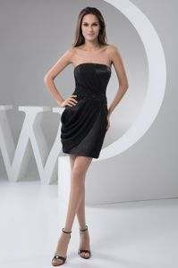 Strapless Mini-length Black Beaded Cocktail Dresses for Wholesale
