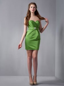 Spring Green Sweetheart Cocktail Dresses for Celebrity with Beading