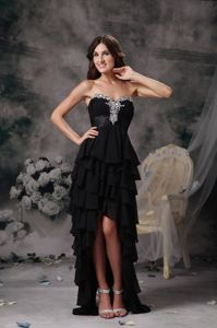 2013 New Arrival Black Ruffled Homecoming Cocktail Dresses
