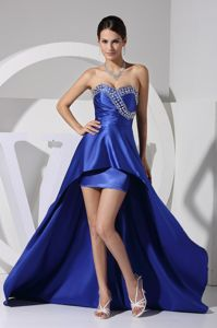 Royal Blue Beaded Sweetheart Natural Beauty Cocktails Dress