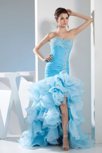 Mermaid Beaded Homecoming Cocktail Dresses with Ruffles
