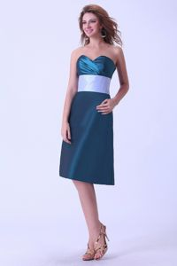 Sweetheart Column Knee-length Evening Cocktail Dress in Teal