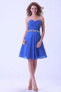 Royal Blue Sweetheart Appliques Homecoming Cocktail Dresses