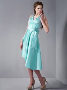 Halter Asymmetrical Ruffled Cocktail Reception Dresses in Mint Green