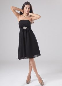 A-Line Strapless Short Black Homecoming Cocktail Dresses