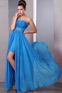 Sweetheart Aqua Blue Column Beaded Homecoming Cocktail Dress