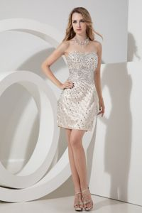 Cocktail Dress Sweetheart Beading Champagne Cocktail Dress